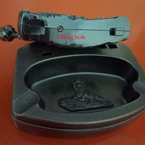 Image 5 - Cenicero灰皿詰め替えガスライターのfuction喫煙アクセサリーポータブルハロウィンたばこシガードラゴン灰皿