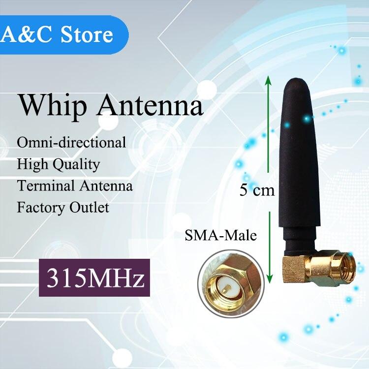 VHF 안테나 50 개/몫 315 백만헤르쯔 채찍 안테나 무선 RFID 센서 SMA-M 터미널 서버 라디오 안테나 무료 배송