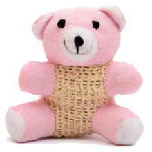 NEW pink bear bath towel natural sisal bath sponge natural Material bath accessories J4