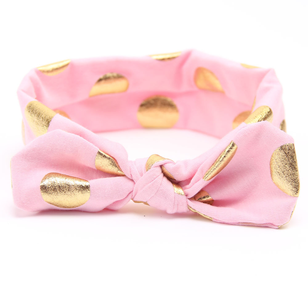 Gold Baby Cotton Headband Girls Knotted Head Wraps Jersey Knit Headwraps Gold Headband for Newborn Infant Hair Accessories