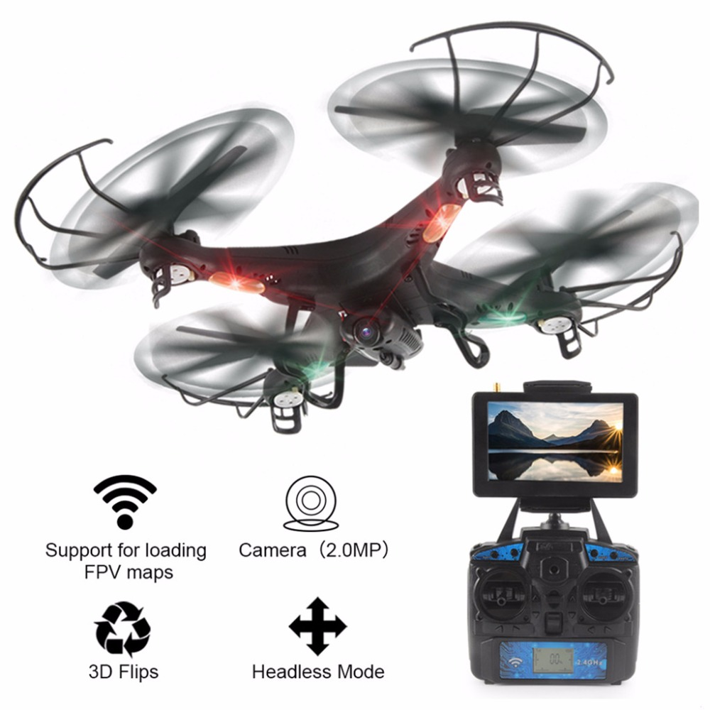 High Qaulity Helicopter LiDiRC L20 2.4G 4CH 6-axis HD Camera WiFi 5.8G Real-Time FPV Gyro RC Quadcopter Drone lucide подвесной светильник lucide bistro 78310 32 17