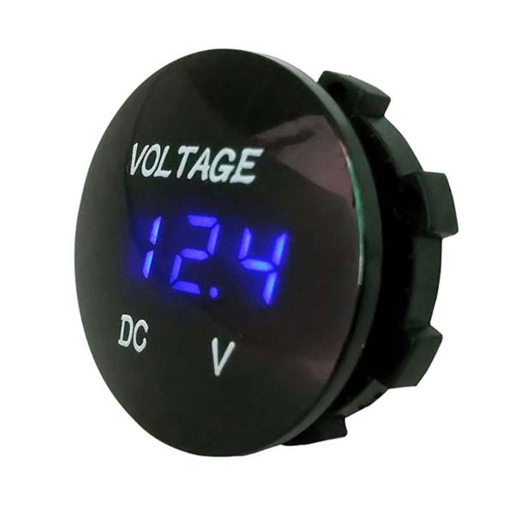 Черный 5 цветов дисплей напряжение дисплей Вольтметр для лодки Водонепроницаемый светодиодный прочный измеритель напряжения ATV автомобильные Универсальные мотоциклы - Цвет: Синий
