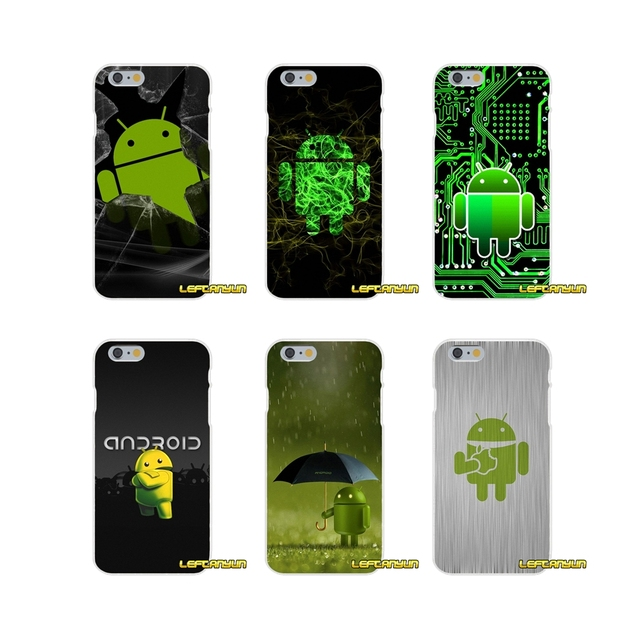Accessories Phone Cases Covers Green Android Robot Logo For Huawei P