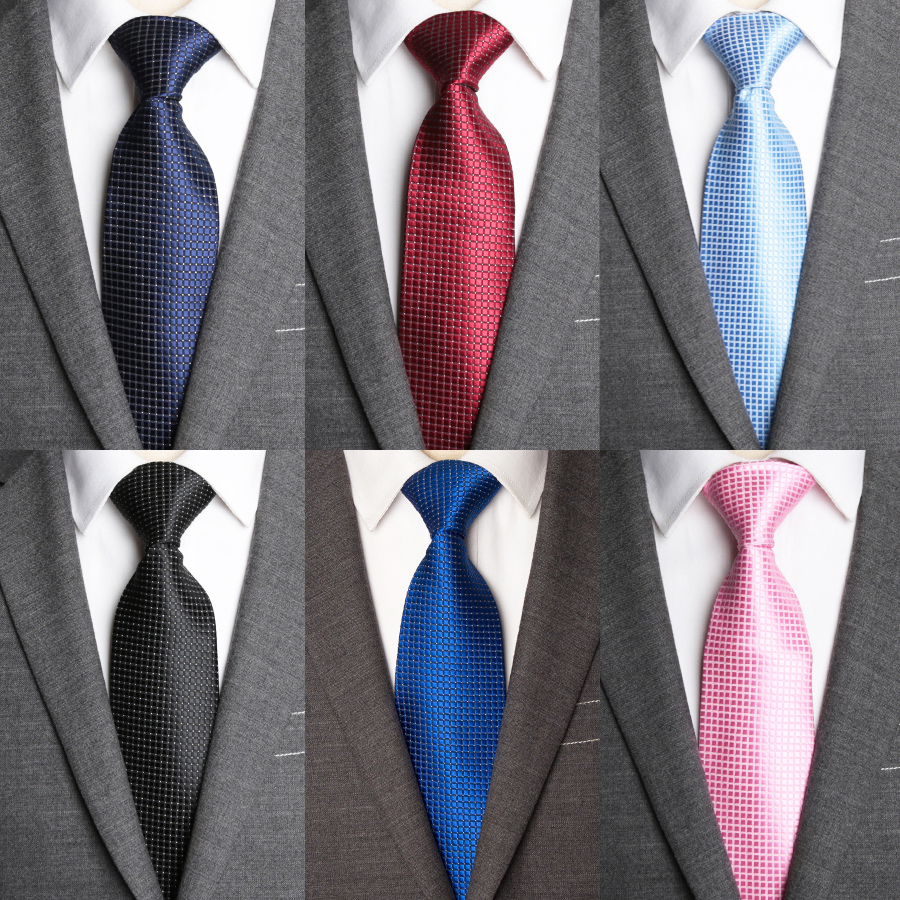 Casual Classic Plain Mens Slim Skinny Neck Polka Dot Necktie Wedding Tie YJC0006