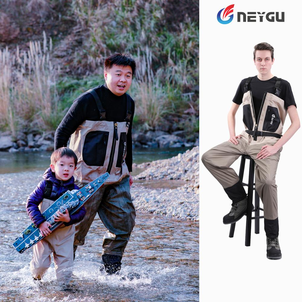Outdoor Fly Fishing Stocking Foot Wader Waterproof and Breathable Chest Waders Hunting Wading Pants
