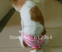 5PCS Female Pet Dog Sanitary Pant Panty Striped Pattern Diaper Briefs Shorts S M L