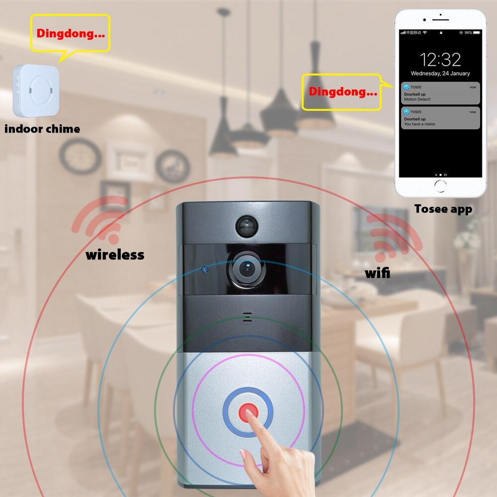 720 P 18650 батареи питания дверной звонок Wi-Fi камера
