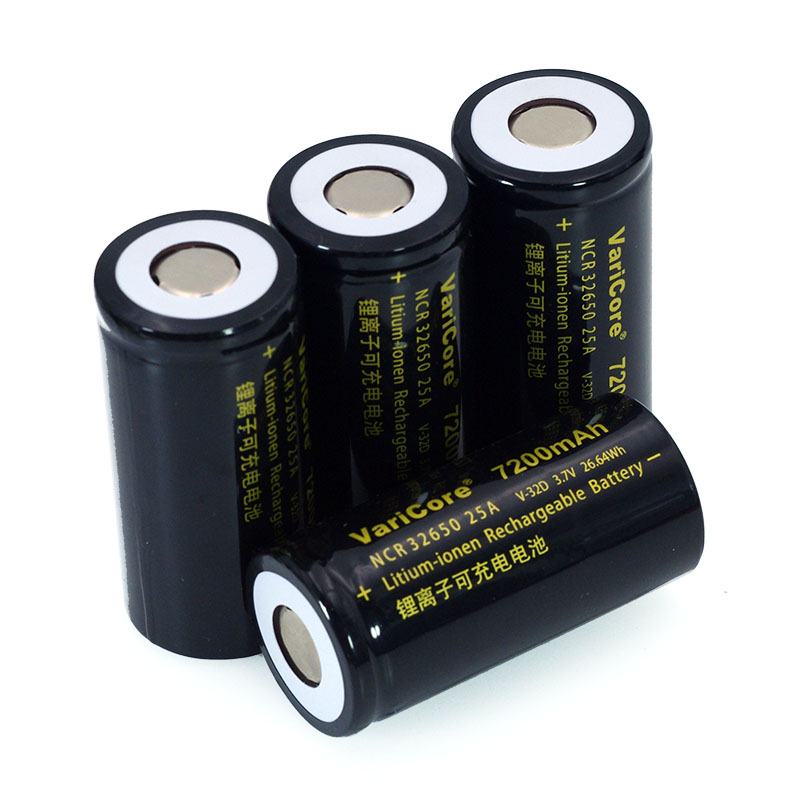 Image 5 - 6pcs/lot VariCore 3.7V 32650 7200mAh Li ion Rechargeable Battery 20A 25A Continuous Discharge Maximum 32A High power battery-in Replacement Batteries from Consumer Electronics