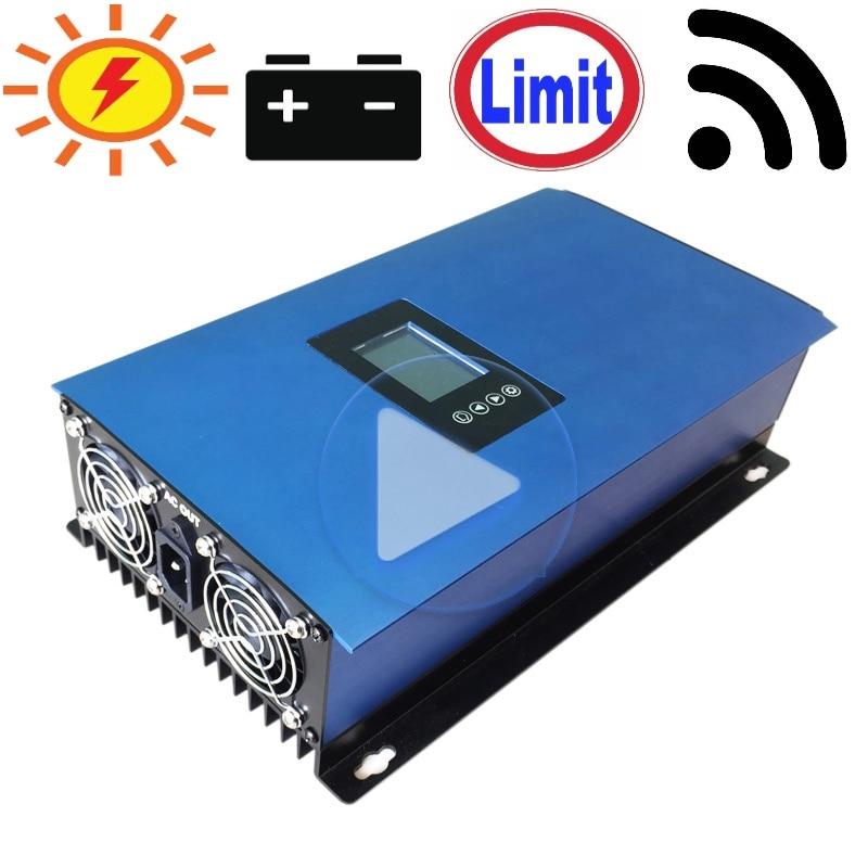 1000 w Batterie Puissance De Décharge Mode/MPPT Solaire Grille Inverseur de Cravate avec Limiteur De Capteur DC22-65V/45-90 v AC 110 v 120 v 220 v 230 v 240 v