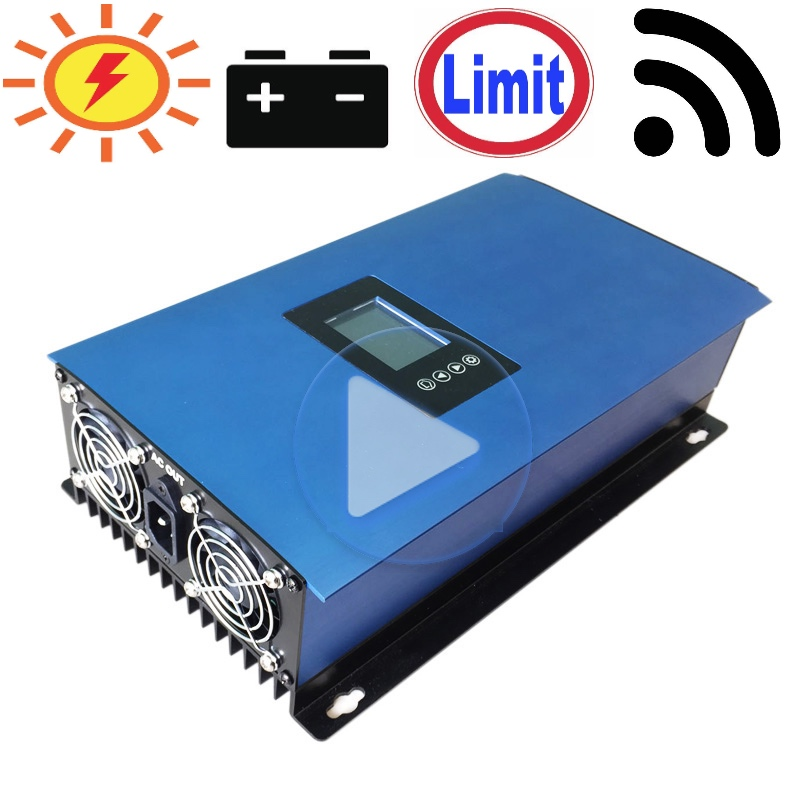 1000W Battery Discharge Power Mode MPPT Solar Grid Tie Inverter with Limiter Sensor DC22 65V 45