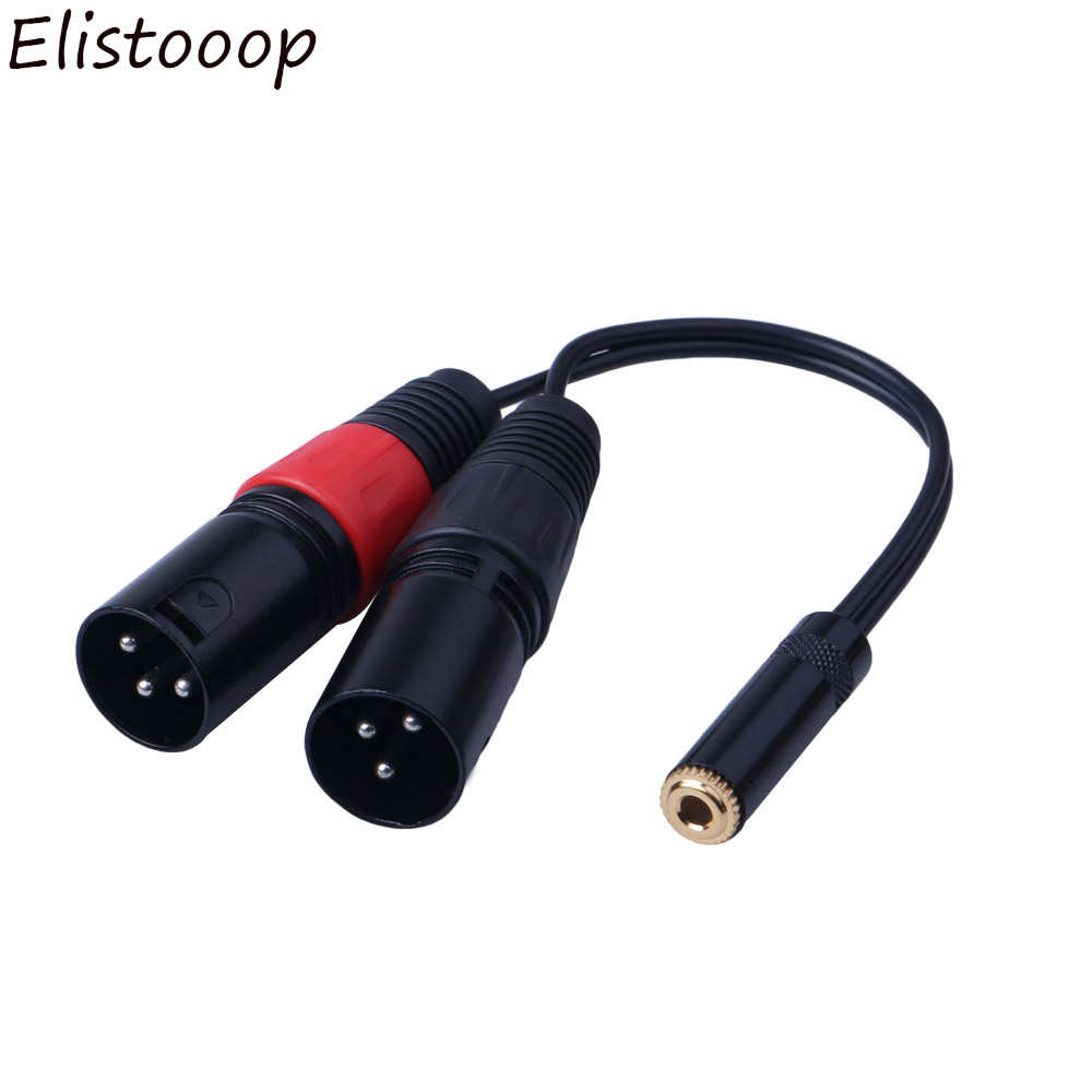 0 2m 3 5mm Trs 1  8inch Stereo Female To Dual Xlr 3pin Male