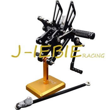 CNC Racing Rearset Adjustable Rear Sets Foot pegs Fit For Yamaha YZF R125 2008 2009 2010 2011 2012 2013 BLACK