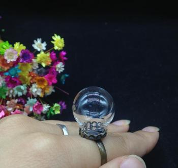 100sets/lot 20*12mm cute ball glass globe with ring findings set glass bottle vial rings handmade jewelry accessory fashion DIY