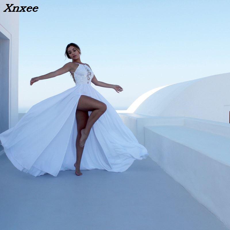 Xnxee 2018 Women Backless High Split Maxi Dress Fashion