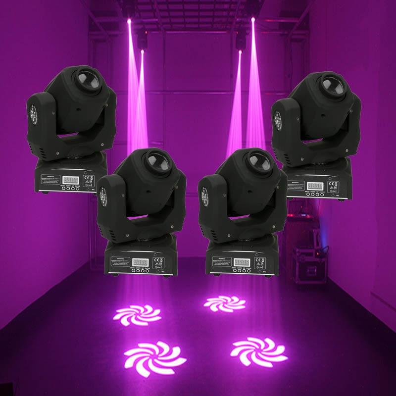 4 Pcs HOT Design 60W Mini Led Spot Moving Head Light 60W Gobo Moving Heads Lights Super Bright LED DJ Stage Lighting