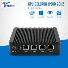 Mini pc X86 4 * GBE Lan işlemci celeron J1900 dört çekirdekli Max 2.41GHz 2 * USB VGA 1080P Pfsense güvenlik duvarı çok fonksiyonlu yönlendirici
