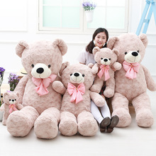 1 PC 40-80cm 2 Color Bow Teddy Bear Plush Toy Stuffed Animal High Quality kids Toys Birthday Gift Girls Valentine's Day Present(China)