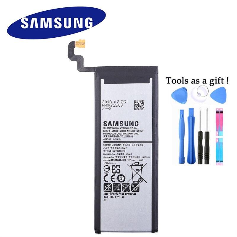 SAMSUNG Original Phone Battery EB-BN920ABA EB-BN920ABE For Samsung GALAXY Note 5 N9200 N920t N920c Note5 SM-N9208 N920P 3000mAh