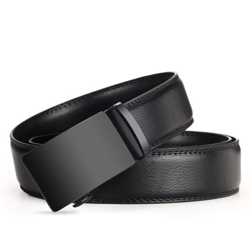 High Quality Cow Genuine Fashion Leather Men`s Belts For Men Strap Automatic Buckle Cinto Masculino110-130cm Long