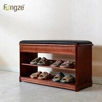 Fengze интерьер FZ801 современный шкаф твердой древесины обуви жизни полки для обуви коробка для хранения стул самостоятельным чистая кожа поду