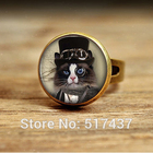 Cat Ring-Black-White...