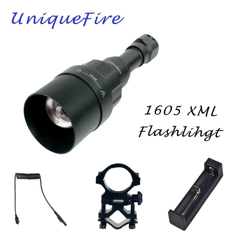 UniqueFire 1605 CREE XML 5 Modes LED Flashlight White Light 1200 Lumen Torch 67mm Convex Lens Rechargeable Lanterna Kit Set sitemap 37 xml