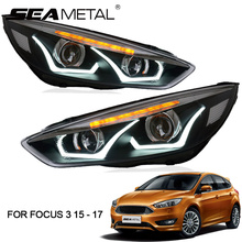 LED Car Headlight For Ford Focus 3 MK3 2017 2016 2015 Sedan Hatchback Auto Headlights Head Light Lamp Kit LEDs Automobile Lamps