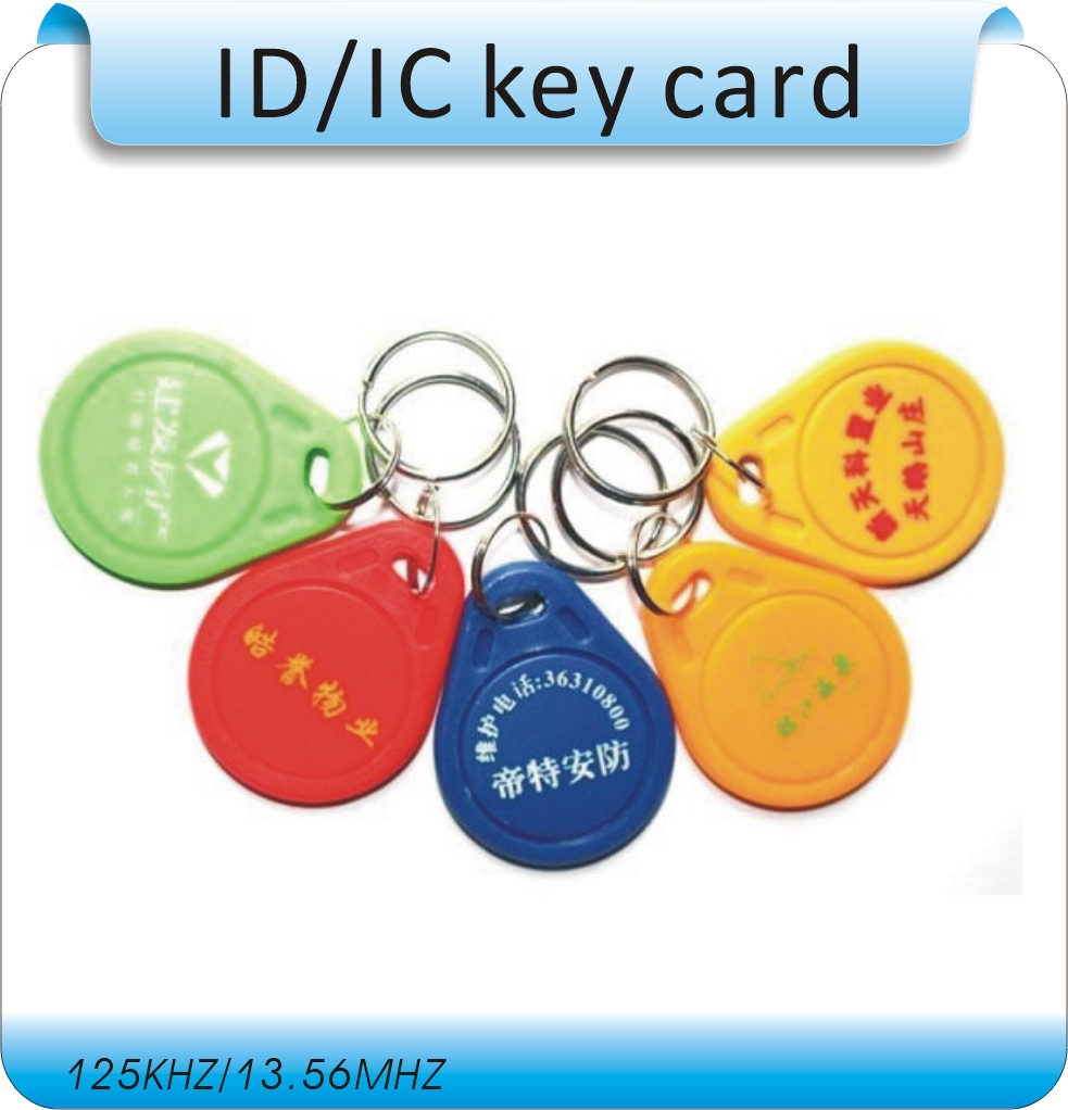 Free Shipping 100pcs Printing Logo 3#  M-ifare S-50  13.56MHZ IC Key Fobs Tags/ Electronic Tags/Compatible With S50 Card