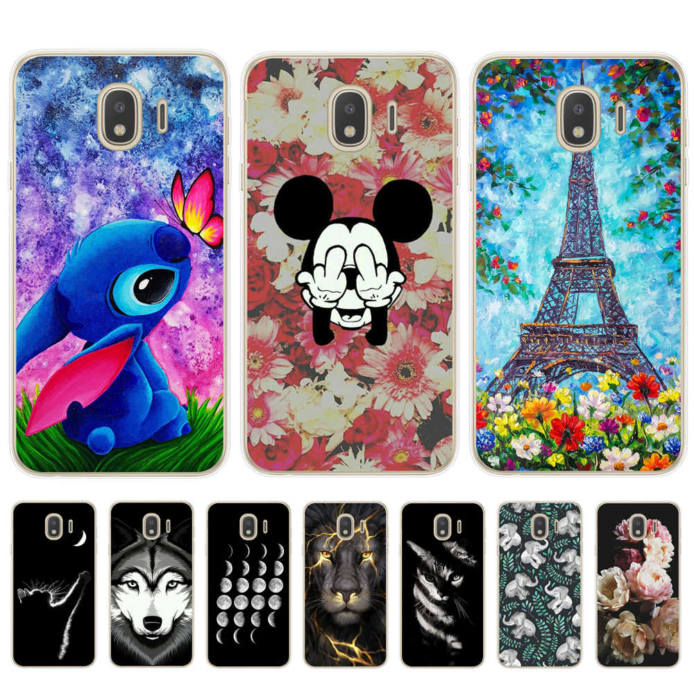 Cool Tiger Cat Pattern Phone Case For Coque Samsung Galaxy J3 J5 J7 2016 2017 J4 J6 Plus 2018 M10 M20 M30 Soft TPU Cover Fundas