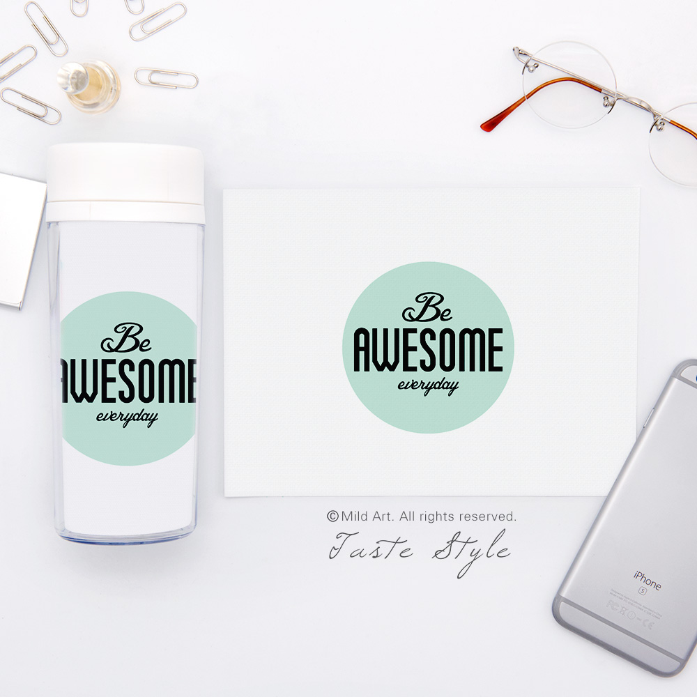 Life Quotes Kids Plastic Insulated Modern Minimalist Motivational Typography Life