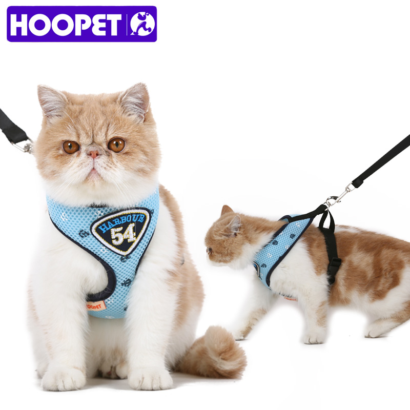 HOOPET Pet Cat Vest Harness Leashes Suit Navy Blue Harness Pet Cat Puppy Pet Cat Small Pet pagani design brand fashion ladies steel quartz women watch waterproof shell dial luxury dress watches relogio feminino