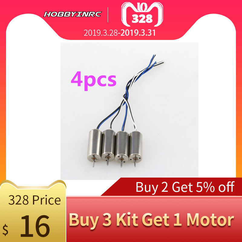 HOBBYINRC 2 Pairs Of Electrical Machine Clockwise Motor (CW) And Counterclockwise Motor (CCW) For DJI TELLO For DJI Drone Parts