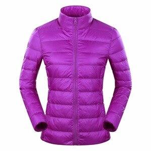 Image 4 - Marca NewBang 6xl 7XL 8XL Plus chaqueta ultraligera para mujer, chaqueta de plumón de pato, cortavientos y ligera, abrigos finos cálidos