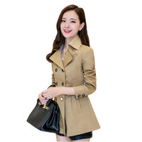 Double breasted Blazer Trench Women's 2019 Spring Coat Plus Size Loose Thin Long Suit Jacket Chic Elegant Ladies Outerwear f564