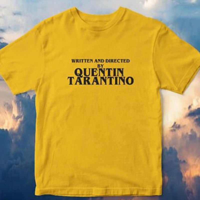 91d351c46 Written and Directed by Quentin Tarantino T Shirt Plus Size Print Women Men  Tshirt Funny T