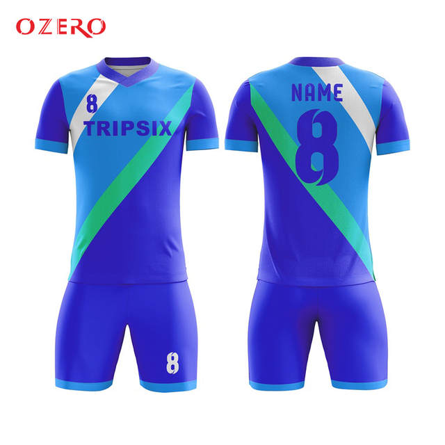 f2308ad9c Online Shop blue color wholesale custom team soccer uniform ...