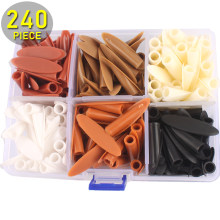 240PCS Plastic POCKET HOLE PLUGS KIT for 12-25mm Wood Stored in Plastic Box(China)