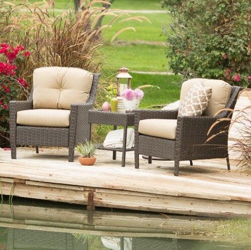 458735676a9 Factory direct sale Modern Garden Outdoor Wicker Furniture Lounge Chair  Chat Set
