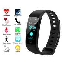 Y5 Intelligente Della Vigilanza di Sport di Fitness di Attività della Frequenza Cardiaca Tracker di Pressione Sanguigna wristband Impermeabile Smartband Pedometro per IOS Android