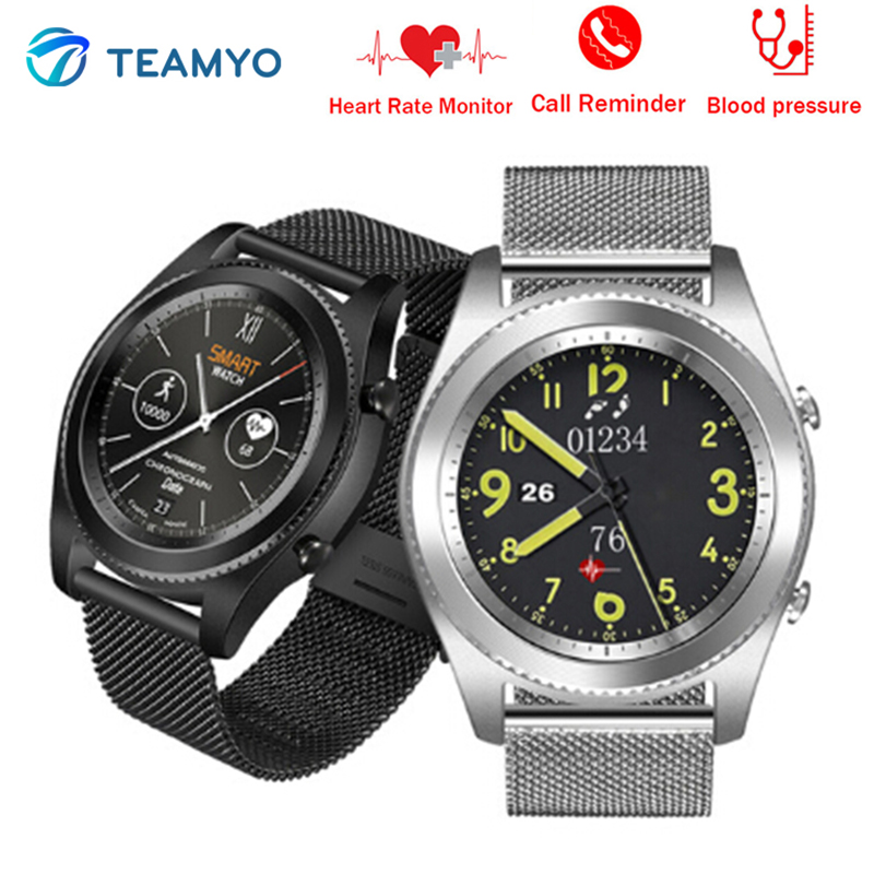Teamyo B6 Smart watches Blood Pressure Monitor Cardiaco cicret Fitness bracelet Activity Tracker Waterproof Smart watch men