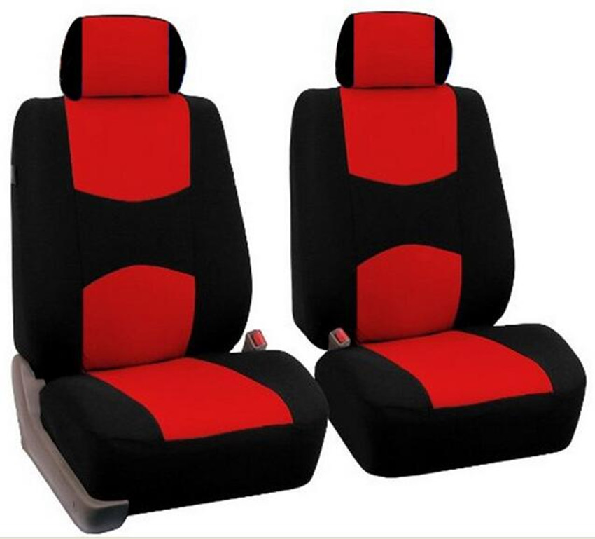 Universal Car Seat Covers Only For Front Seat Car Back Seat Covers Black+Red/Gray/Blue/Beige/Pink/Green Breathable Material 2017 high quality car seat covers complete 5 seat for geely emgrand ec7 ec8 black red beige gray purple car accessories auto sticker
