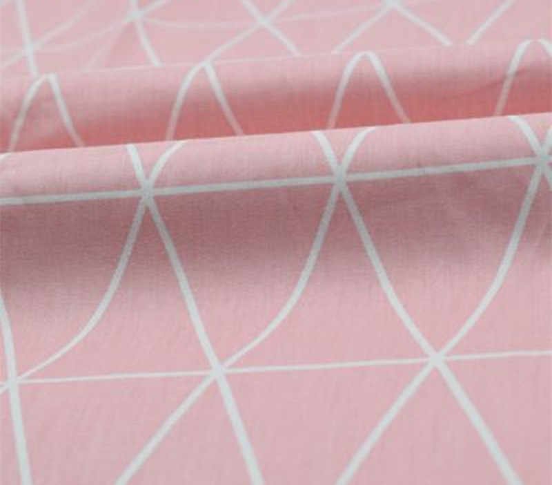 1 Meter Pink Or Yellow Green With Triangular Lattice Cotton Fabric For Baby's Bedding Garment Handicraft Sewing Tissue 892-6/14