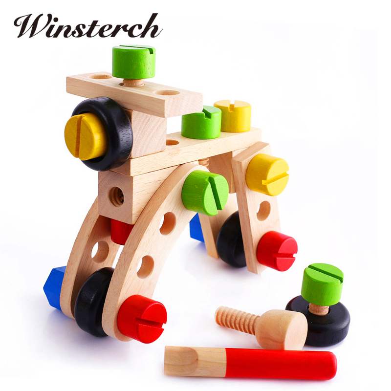 2017 New Wooden Jenga Game Educational Toys Resin Miniature ho scale Children Learning Toy Geometric Assembling Blocks ZS029