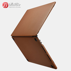 Image 2 - Genuine Leather Cover Case For MacBook Pro 15 inch New 2018 Case Sleeve Luxury Leisure Laptop Bags & Cases Protective Shell Cove