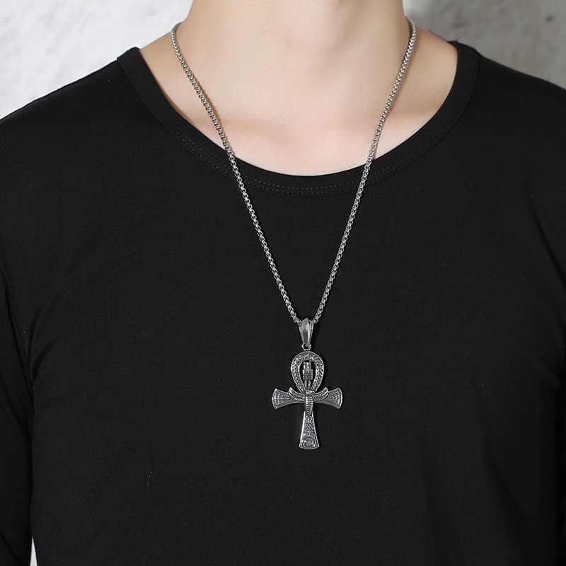 Ankh Illuminati egipskie oko Ra pogański krzyż ochrony życia zawieszka z cyny
