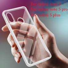 TPU Soft Bumper Case For Xiaomi Redmi Note 5 7 6 Pro Shockproof Cover Plus 4 4X 4A Silicone Glass Phone