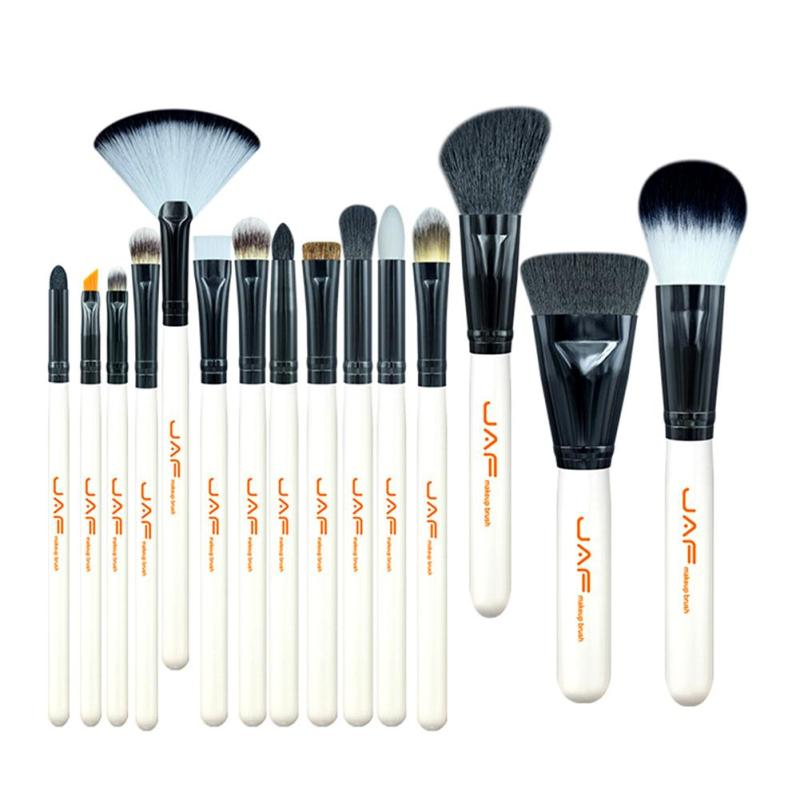 JAF 15pcs Makeup Brushes Set Eyeshadow Eyeliner Blush Blending Contour Foundation Cosmetic Beauty Make Up Brush Tools Kit Z3 25pcs makeup brushes set woodcolor nylon eye foundation powder eyeshadow eyeliner blush brush make up cosmetic tools kit bag