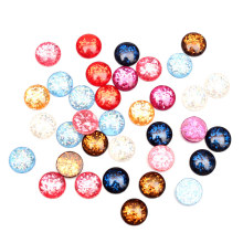 LF 50Pcs Mixed Clear Round 12mm Resin Decoration Crafts Flatback Cabochon Embellishments For Scrapbooking Diy Accessories