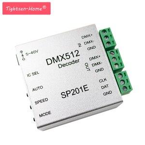 Image 1 - SP201E DMX512 decoder ws2812B ws2801 WS2811 1903 DMX dmx512 rgb led controller DMX BOARD IC led strip LED SPI Converter DC5V/12V