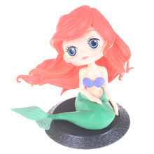 11cm PVC The Little Mermaid Princess Ariel Figure Collectible Model Toy Q Posket Characters(China)